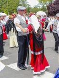 Lajkonik ` San Isidro `, patron Madryt, Maj 15, 2017, Madryt, Hiszpania Obraz Royalty Free