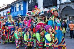 Lajkonik w Cusco, Nuestra señora De Fatima zdjęcie royalty free
