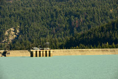 Lajoie Dam on Downton Lake Reservoir, British Columbia, Canada Royalty Free Stock Photography