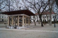 Lajos Kossuth καλά και μέγαρο Horvath Στοκ Φωτογραφίες