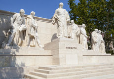 Lajos Kossuth Monument in Budapest Stock Image