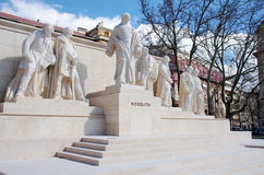 Lajos Kossuth Monument, Budapest stock photo