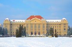 The Lajos Kossuth University in winter royalty free stock image