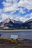 Lak des arcs Alberta Stock Foto's