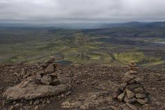 Lakagígar. Viuw eruption craters at Lakagigar Royalty Free Stock Photo