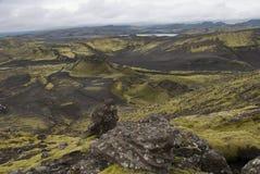 Lakagígar. Viuw eruption craters at Lakagigar Royalty Free Stock Images