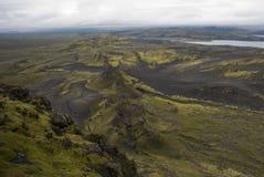 Lakagigar. Viuw eruption craters at Lakagigar Royalty Free Stock Photo