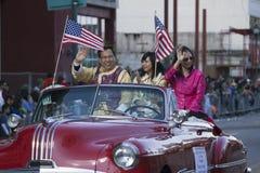 LAkammarepresident Chester Chong, 115. guld- Dragon Parade, kinesiskt nytt år, 2014, år av hästen, Los Angeles, Kalifornien Arkivfoton