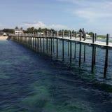 Lakawon-Insel-Strand stockfotografie