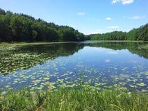 Lake Žalieji prūdeliai (Lithuania) Royalty Free Stock Photo