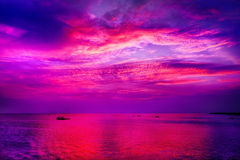 lake över solnedgång Fotografering för Bildbyråer