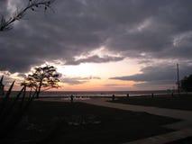 lake över solnedgång Royaltyfria Bilder