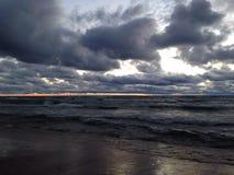 lake över solnedgång Royaltyfri Foto