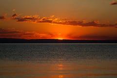 lake över soluppgång Royaltyfri Fotografi