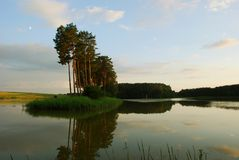 Lake. A lake in the central Lithuania Stock Photo