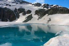 Lake. Beautiful lake in Caucasus mountains Royalty Free Stock Images