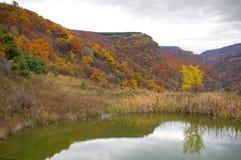 Lake. Lautumn ake in the mountain Stock Photos