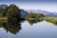 Lake. High mountain lake in Spain stock images