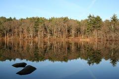 Lake. Reflex of a lake at MA, US stock photos
