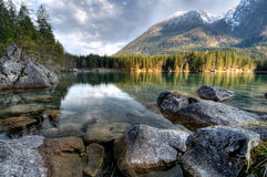 Lake. A mountain lake with clear water Royalty Free Stock Images