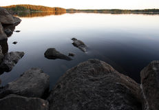 Lake. A quiet lake in finland Royalty Free Stock Images