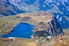 Lake. The blue lake is located in the Titlis mountain, swissland Stock Photography
