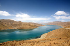 Lake. Yang lake of tibet, china Stock Image