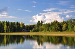 By the lake. Photo of a lake Alauksts taken in Latvia, near Vecpiebalga stock photography