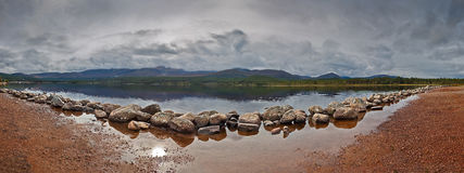 Lake. Panoramic Image of a Lake. Dimensions : 8000 x 2998 Royalty Free Stock Images