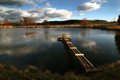 The lake. In the czech republic - Pribram Royalty Free Stock Image