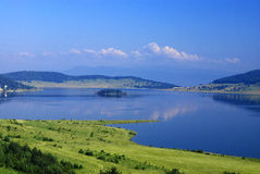 Lake. Batak in Rodopi mountine, Bulgaria stock photos