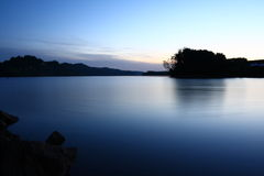 Lake. A beautiful photo of a lake taken after sunset Stock Images