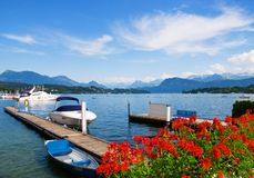 A lake. Lake of Luzern in summer time Stock Photography