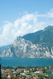 Lake. View of the lake Garda . North Italy royalty free stock photography