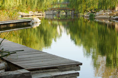 peaceful lake at beijing Royalty Free Stock Image