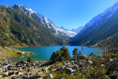 Lake. Mountain and lake in french Pyrenee Stock Image