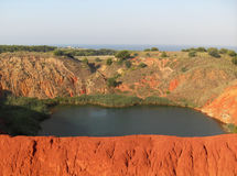 Lake in the abandoned bauxite quarry  Stock Photography