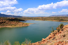 Lake Abiquiu in New Mexico stock images