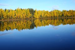 Lake Abitibi scenic Canada royalty free stock photo