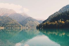 Lake in Abkhazya Stock Photo