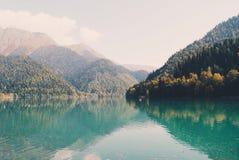 Lake in Abkhazya. Mountains and lake  Abkhazya Stock Photo