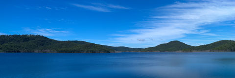 36x12 inch Lake Advancetown panorama Royalty Free Stock Photography