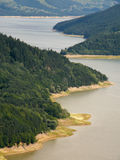 lake aerial view stock photography