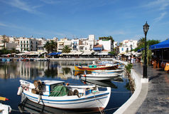 Lake in Aghios Nikolaos Royalty Free Stock Photography