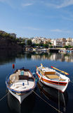 LAKE in AGHIOS NIKOLAOS Stock Photography