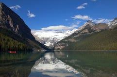 Lake Agnes. Banff Alberta Arkivfoto