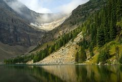 Lake Agnes in Banff national park Royalty Free Stock Photography