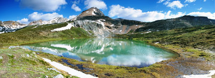 Lake Agnes, Banff national park Stock Photo