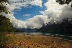 Lake Agnes. Kanada Arkivbilder