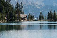 Lake Agnes Tea House Royalty Free Stock Photography